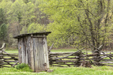 Outhouse, Pioneer Homestead, Great Smoky Mountains National Park, North Carolina Photographic Print by Adam Jones