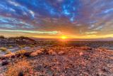 Arizona, Lake Havasu City. Sunset on Desert Fotoprint van Jaynes Gallery