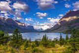 Saint Mary Lake and Wild Goose Island, Glacier National Park, Montana Reproduction photographique par Russ Bishop