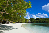 White Sand Beach, Bay De Kanumera, Ile Des Pins, New Caledonia, South Pacific Photographic Print by Michael Runkel