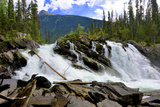 Ghost Lake Waterfall on the Matthew River in the Cariboo Mountains of B.C Reproduction photographique par Richard Wright