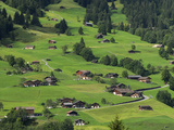 Switzerland, Bern Canton, Grindelwald, Apline Farming Community Reproduction photographique par Jamie And Judy Wild