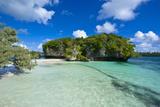 White Sand Beach, Bay De Kanumera, Ile Des Pins, New Caledonia, Melanesia, South Pacific Fotografisk trykk av Michael Runkel