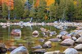 Maine, Acadia National Park, Fall Reflections at Jordon Pond Reproduction photographique par Joanne Wells