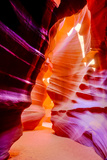 Arizona, Page, Upper Antelope Slot Canyon. Canyon Scenic Fotografisk trykk av Jaynes Gallery