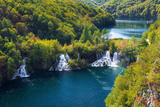 Lake Kozjak and Travertine Cascades on the Korana River, Plitvice Lakes National Park, Croatia Reproduction photographique par Russ Bishop