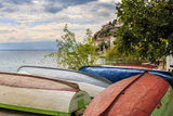 Macedonia, Ohrid, Boats on the Shore of Lake Ohrid Photographic Print by Emily Wilson