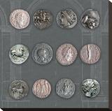 Roman Coins II Trykk på strukket lerret av  The Vintage Collection