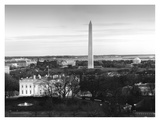 Dawn over the White House, Washington Monument, and Jefferson Memorial, Washington, D.C. - Black an Prints by Carol Highsmith