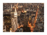 Aerial view of Manhattan with Flatiron Building, NYC Posters by Michel Setboun