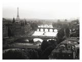 Bridges over the Seine river, Paris Poster by Michel Setboun