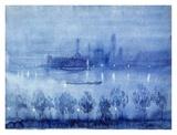 Blue Night, London Prints by Joseph Pennell