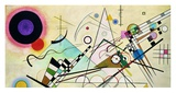 Composition VIII (detail) Prints by Wassily Kandinsky