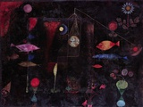 Fish Magic Print on Canvas by Paul Klee