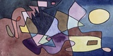 Dramatic Landscape Print on Canvas by Paul Klee