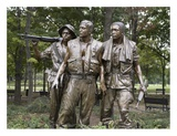 Vietnam memorial soldiers by Frederick Hart, Washington, D.C. Posters by Carol Highsmith