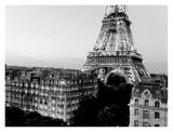 Eiffel tower and buildings, Paris Prints by Michel Setboun