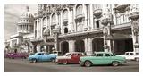 Vintage American cars in Havana, Cuba Affiche