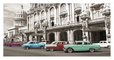 Vintage American cars in Havana, Cuba Posters