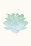 Mindfulness - Lotus Affiche par Sasha Blake