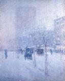 Late Afternoon, New York: Winter ジクレープリント : フレデリック・チャイルド・ハッサム