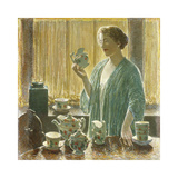 Strawberry Tea Set, 1912 Premium Giclee Print by Frederick Childe Hassam