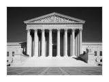 U.S. Supreme Court building, Washington, D.C. - B&W Poster by Carol Highsmith