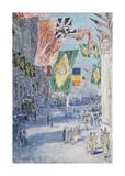 Avenue of the Allies: Brazil, Belgium, 1918 Reproduction giclée Premium par Frederick Childe Hassam
