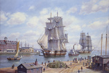 "Clipper ""Reindeer"" Old Boston Giclée-tryk af Roy Cross"