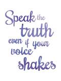 Inspire - Truth Poster par Sasha Blake