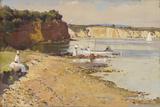Slumbering sea, Mentone Giclée-tryk af Tom Roberts