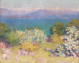 In the Morning, Alpes Maritime from from Antibes Giclée-tryk af John Peter Russell