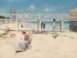 A Holiday at Mentone Lámina giclée por Charles Conder