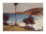 Holiday sketch at Coogee Reproduction giclée Premium par Tom Roberts