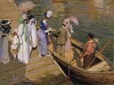 The Ferry Lámina giclée por Emanuel Phillips Fox
