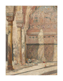 Basking - a corner in the Alhambra Reproduction giclée Premium par Tom Roberts