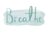 Contemplation - Breathe Poster di Sasha Blake