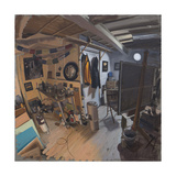 Studio Interior with Warm and Cool Light Giclee Print by Tom Hughes