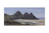 Three Cliffs Giclee Print by Tom Hughes