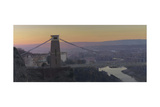 Clifton Suspension Bridge, Dawn, December Giclee Print by Tom Hughes