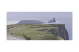 Worm's Head, Rhossili Giclee Print by Tom Hughes