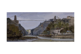 Sun in Avon Gorge, October Giclee Print by Tom Hughes