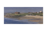 Fistral Beach from the Southern End, July Giclee Print by Tom Hughes
