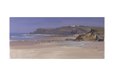 Looking North at Widemouth Bay, Mid Afternoon, March Giclee Print by Tom Hughes