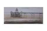 Clevedon Pier, Overcast, November Giclee Print by Tom Hughes