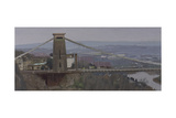 Clifton Suspension Bridge, Overcast, February Giclee Print by Tom Hughes