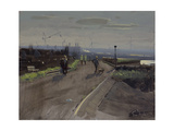 Sunday Afternoon, Severn Beach, November Giclee Print by Tom Hughes