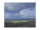 Sunlit Field, Quantocks, September Giclee Print by Tom Hughes