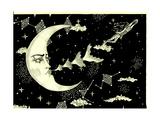 Hello, Moon! 2016 Giclee Print by Dariya Hlazatova