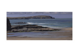 Trevone Bay, February Giclee Print by Tom Hughes